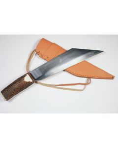 Large Scramsax, Genuine Stag Handle, Stainless Steel Blade