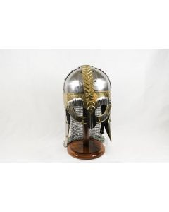 Viking Anglo Saxon Helmet with Chainmail