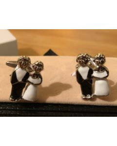 Cufflink Pair in Box Wedding Couple