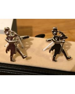 Cufflink Pair in Box 'Top hat and coat tails'