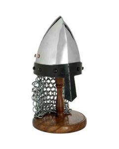 Mini Norman/saxon Helmet On Stand