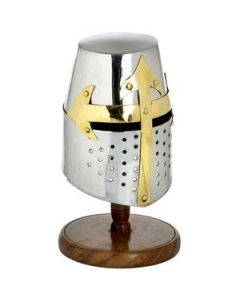 Mini Knights Helmet (crusader) With Stand