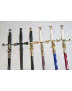 Masonic Sword in Black with Black Fittings
